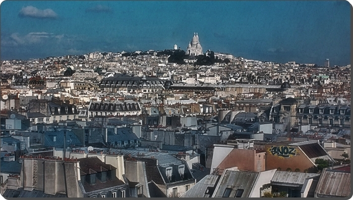 Sacre Coeur from Pompidou Center's 6th floor (Copyright Mariln Z.Tomlins)