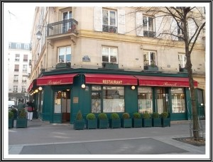 Chez Benoit Restaurant in Paris  where the two lovebirds were to dine on the last night of their life. Copyright Marilyn Z. Tomlins)