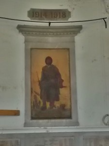 An armed soldier behind the altar (cc Marilyn Z.Tomlins)