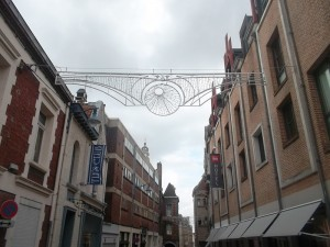 Another Arras street and ready for Christmas (Copyright Marilyn Z. Tomlins)