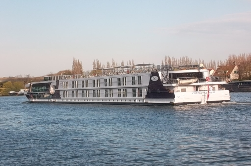River cruises - this one is heading for Basle, Switzerland -  on the Seine at Conflans (cc Marilyn ZTomlins)