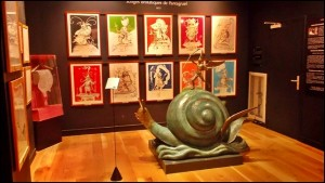 Salvador Dali's snail -- but alas not for eating - as can be seen in Paris' Dali Museum
