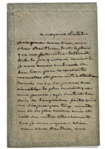 One of Josephine's letter to be auctioned.