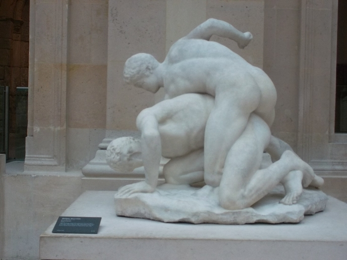 The Wrestlers in the Louvre. (Copyright Marilyn Z.Tomlins)