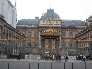 Palais de Justice building in Paris where Dr Petiot stood trial and was sentenced to death.(copyright marilynztomlins)