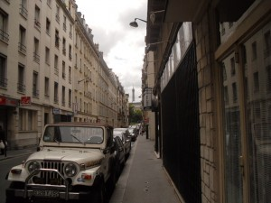 Rue le Sueur, today a quiet street, in WW2 a street of murder. (copyright Marilyn Z.Tomlins)
