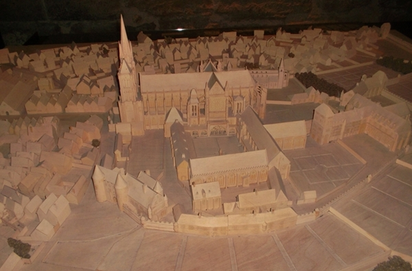 Wood model of ~Saint Denis and its Basilica (Copyright Marilyn Z Tomlins)
