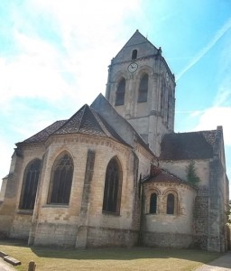 The Auvers-sur-Oise church (cc Marilyn Z Tomlins)