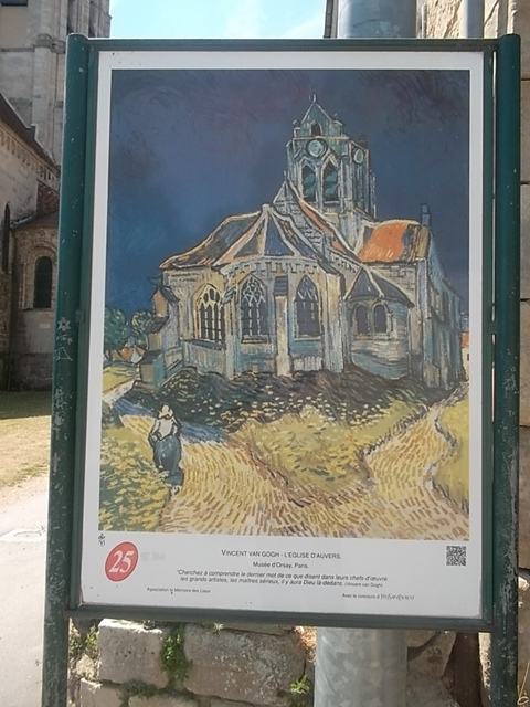 Vincent van Gogh's painting of the Auvers-sur-Oise church (cc Marilyn Z. omlins)