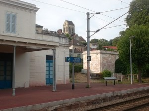 Auvers-sur-Oise station and see the church bell-tower? (cc Marilyn Z. Tomlins)