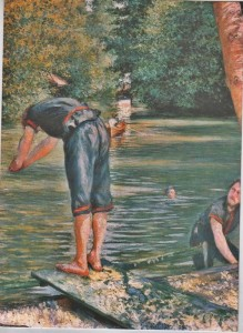 caillebotte swimmers in theYerres
