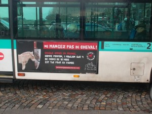 2012 Don't Eat Horses Campaign in Paris.