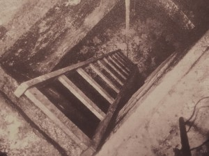 These stairs led to  pit where Petiot destroyed the remains of more victims with quicklime