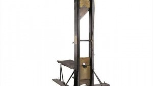 This guillotine is for sale