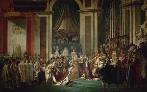 Painting by David of the coronation of Napoleon and Josephine.