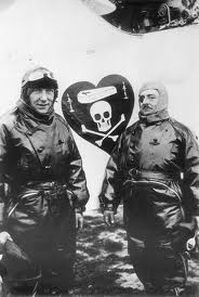 Nungesser and Coli with the death head logo on their plane.