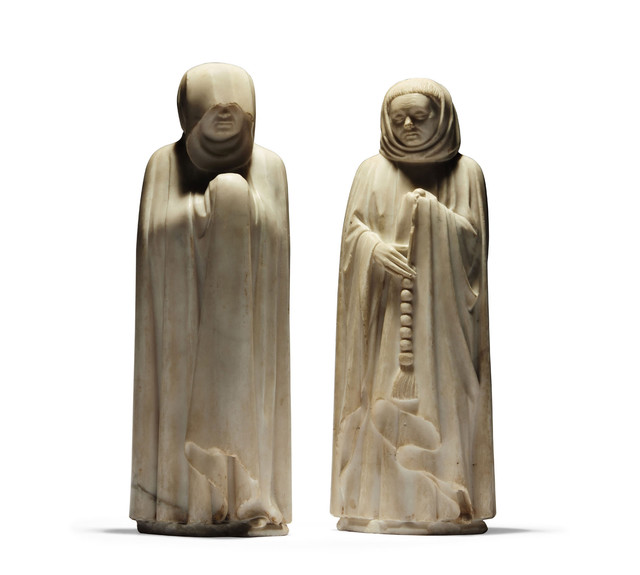 The two mourning monks bought by the Louvre for over 5 million euros.