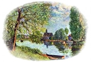Sisley's painting of the Loing