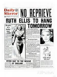 The front-page of the Daily Mirror announcing Ruth's execution for the morrow.