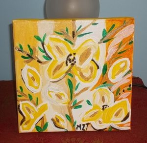 Yellow Flowers by MZT (Marilyn Z. Tomlins)